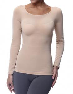 Franato Women's Long Sleeve Compression Slim Undershirt